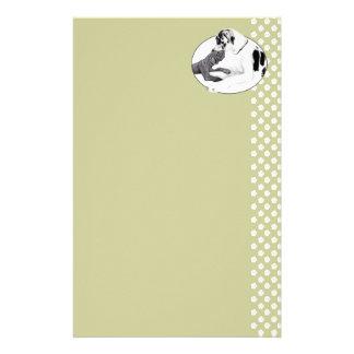 Great Dane Harle & Black Whisper Customized Stationery