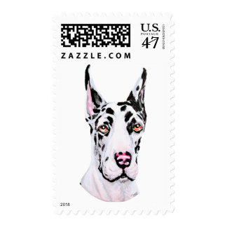 Great Dane Harle Cropped Pup Postage