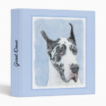 Great Dane (Harlequin) 3 Ring Binder