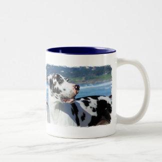 Great Dane - Harlequin - Bogey Coffee Mug