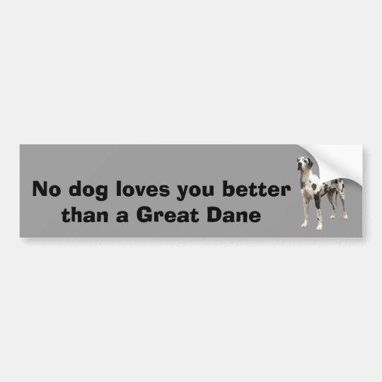 Great Dane Harlequin Bumper Sticker