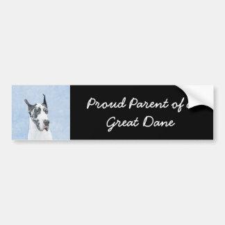 Great Dane (Harlequin) Bumper Sticker
