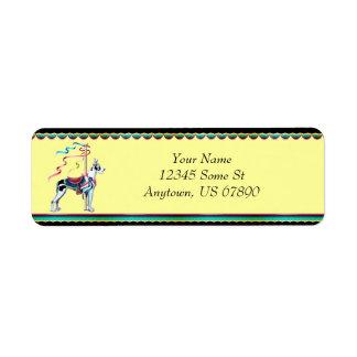 Great Dane Harlequin Carousel Labels