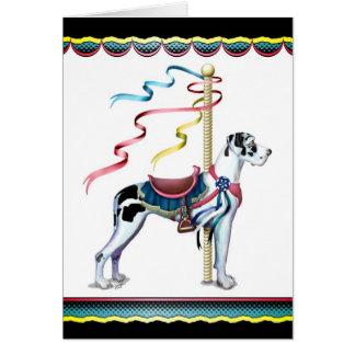 Great Dane Harlequin Carousel UC - Customized Card