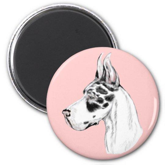 Great Dane Harlequin Feminine Magnet