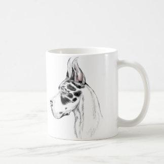 Great Dane Harlequin Feminine Coffee Mugs