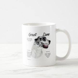 Great Dane (harlequin) History Design Mug