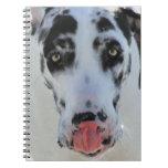 Great dane - Harlequin - mi lengua toca mi nariz Cuadernos