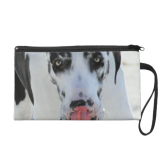 Great Dane - Harlequin - My Tongue Touches My Nose Wristlet