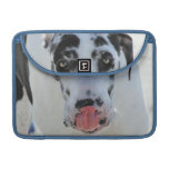 Great Dane - Harlequin - My Tongue Touches My Nose Sleeves For MacBook Pro