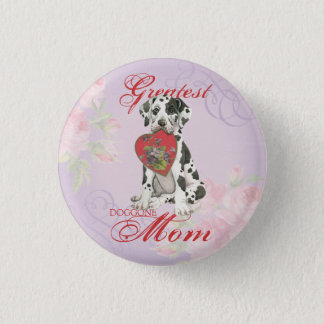 Great Dane Heart Mom Pinback Button