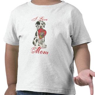 Great Dane Heart Mom Tshirt