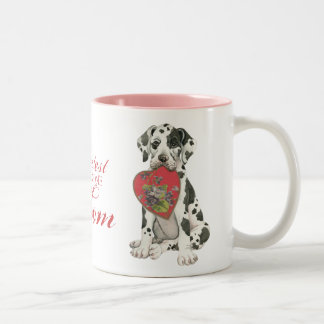 Great Dane Heart Mom Two-Tone Coffee Mug
