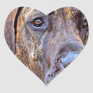 """Great Dane"" Heart Sticker"