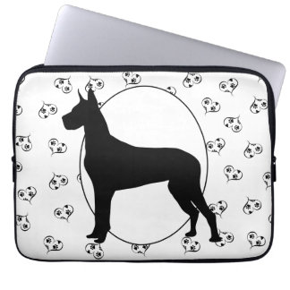 Great Dane Hearts and Paw Prints Computer Sleeve