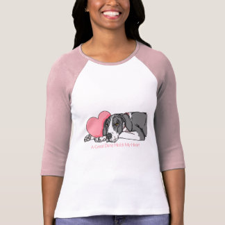 Great Dane Holds Heart Mantle UC Tshirts