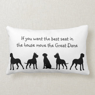 Great Dane Humor Best Seat in house Dog Pet Animal Lumbar Pillow