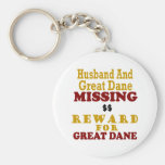 Great Dane & Husband Missing Reward For Great Dane Key Chain