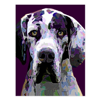 Great Dane in Dazzling Colors Post Card