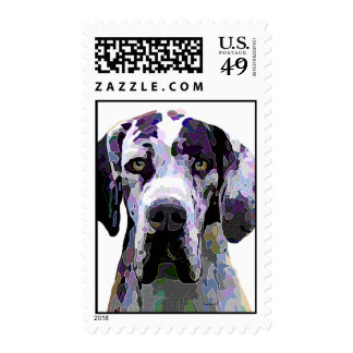 Great Dane in Dazzling Colors Postage