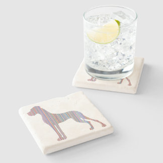 Great Dane in Pastel Colors Stone Coaster