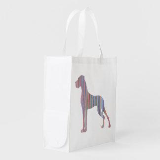 Great Dane in Pastel Colors Grocery Bag