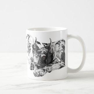 Great Dane Inseparable Classic White Coffee Mug