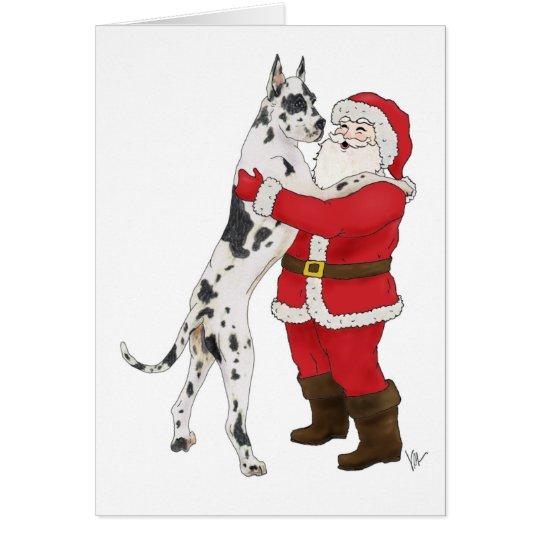 Great Dane Jowly Christmas Greeting Card