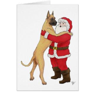 Great Dane Jowly Christmas Greeting Greeting Card