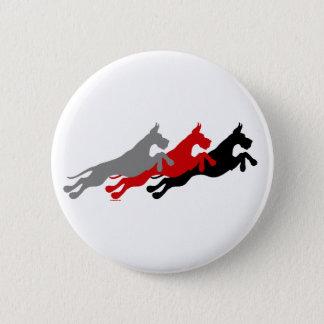 Great Dane Jumper Multi Color Pinback Button