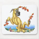 Great Dane Kinda Crabby Fawn Mouse Pad