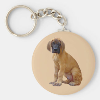 Great Dane King of Dogs Keychain