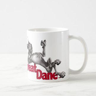 Great Dane Laid Back Black Coffee Mug