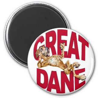 Great Dane Laid Back Brindle UC 2 Inch Round Magnet
