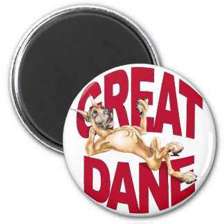 Great Dane Laid Back Fawn 2 Inch Round Magnet