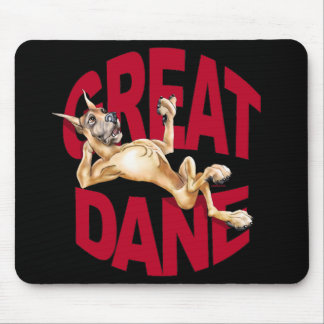 Great Dane Laid Back Fawn Mouse Pad