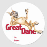 Great Dane Laid Back Fawn Stickers