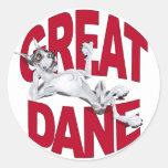 Great Dane Laid Back Harlequin Sticker