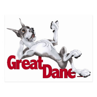 Great Dane Laid Back Mantle Postcard