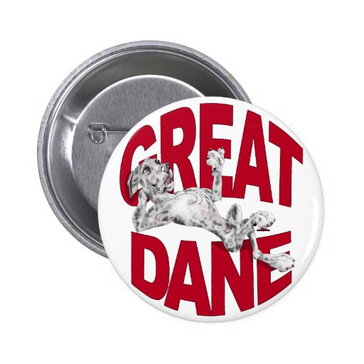 Great Dane Laid Back Merle UC 2 Inch Round Button