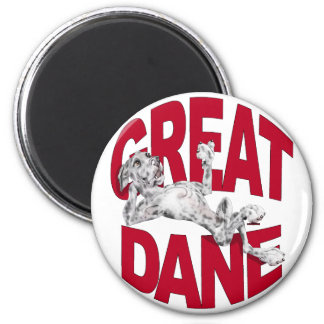 Great Dane Laid Back Merle UC 2 Inch Round Magnet