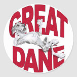 Great Dane Laid Back MerleB UC Stickers