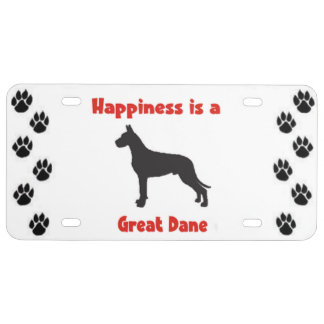 Great Dane License Plate