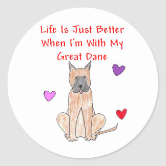 Great Dane Life Is Just Better Sticker