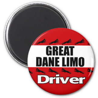 Great Dane Limo Driver Magnet