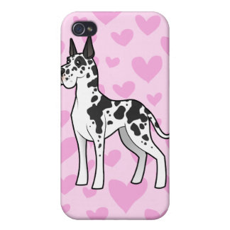 Great Dane Love (add your own pern) Case For iPhone 4