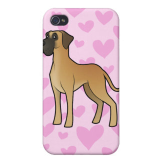 Great Dane Love (add your own pern) iPhone 4 Case