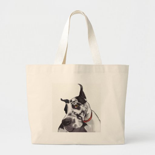 Great Dane Love Canvas Bags
