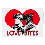Great Dane Love Bites - Customized Greeting Card