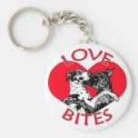 Great Dane Love Bites Key Chain